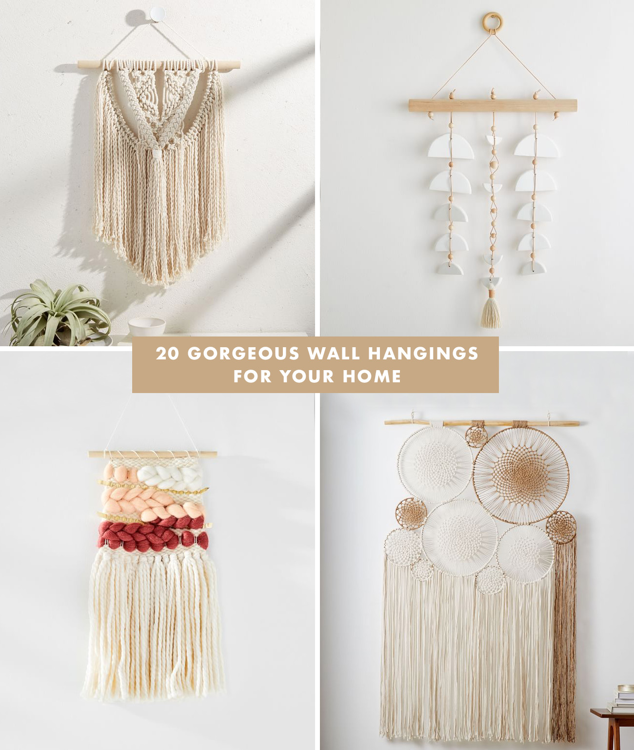 20 Gorgeous Wall Hangings for your Home