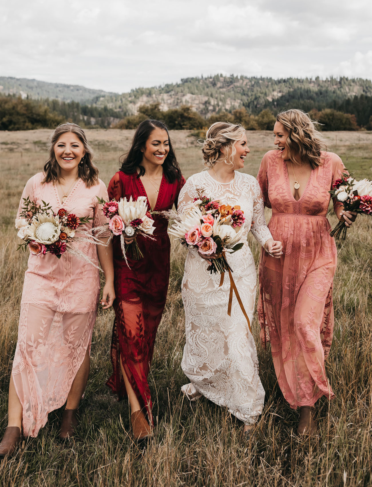It Was All Good Vibes, Crystals, and Festival Seating for this Bohemian Mountain Wedding