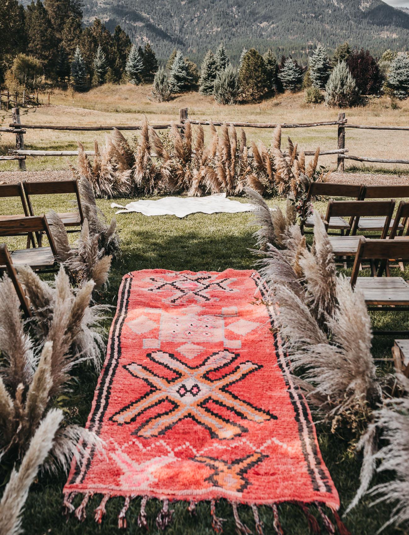 pampas grass backdrop