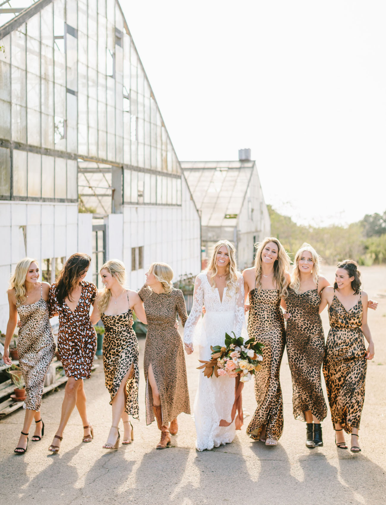 leopard bridesmaids