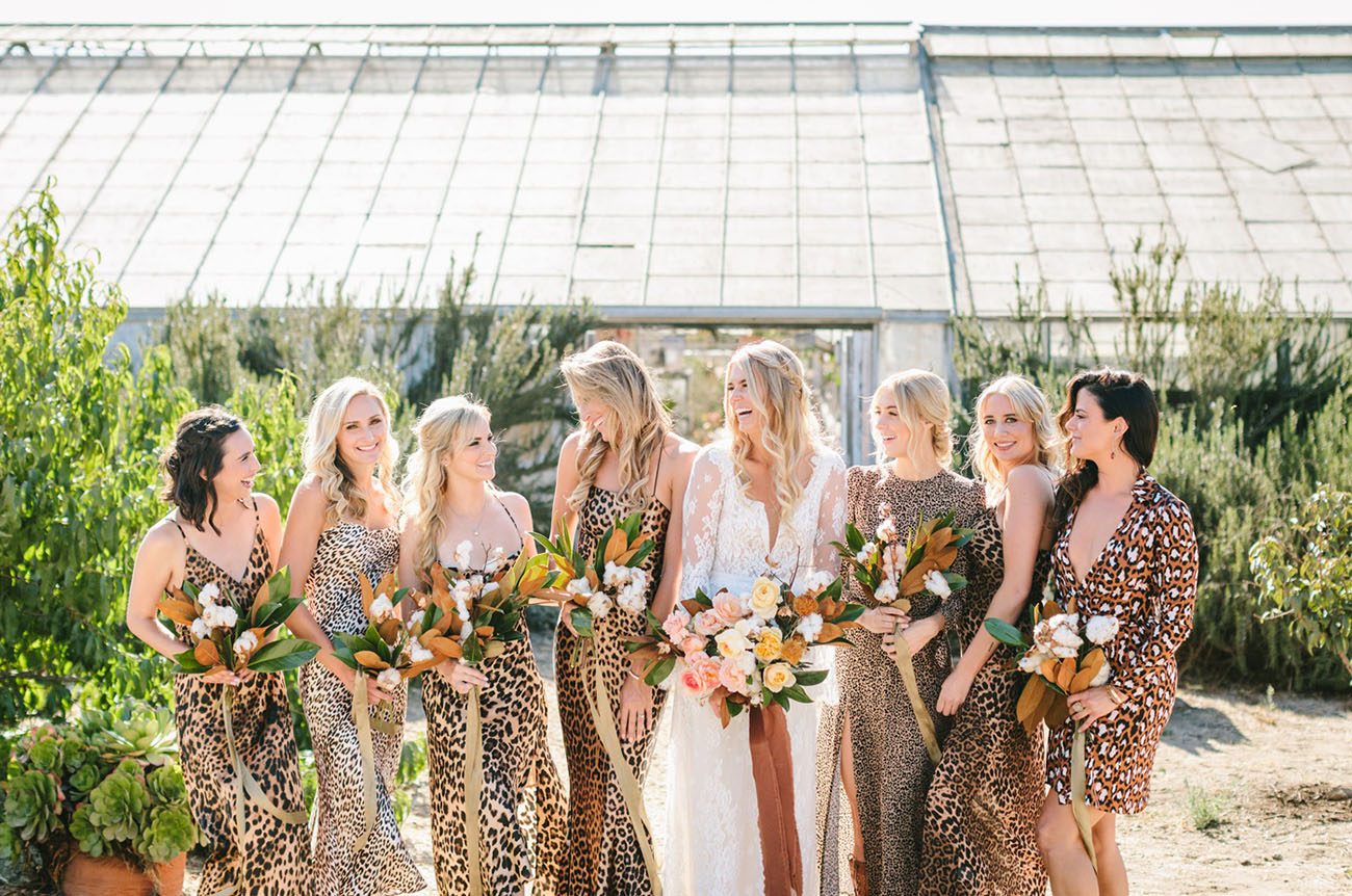 leopard bridesmaids