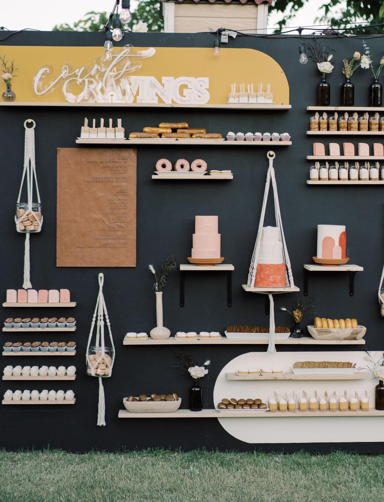modern dessert wall