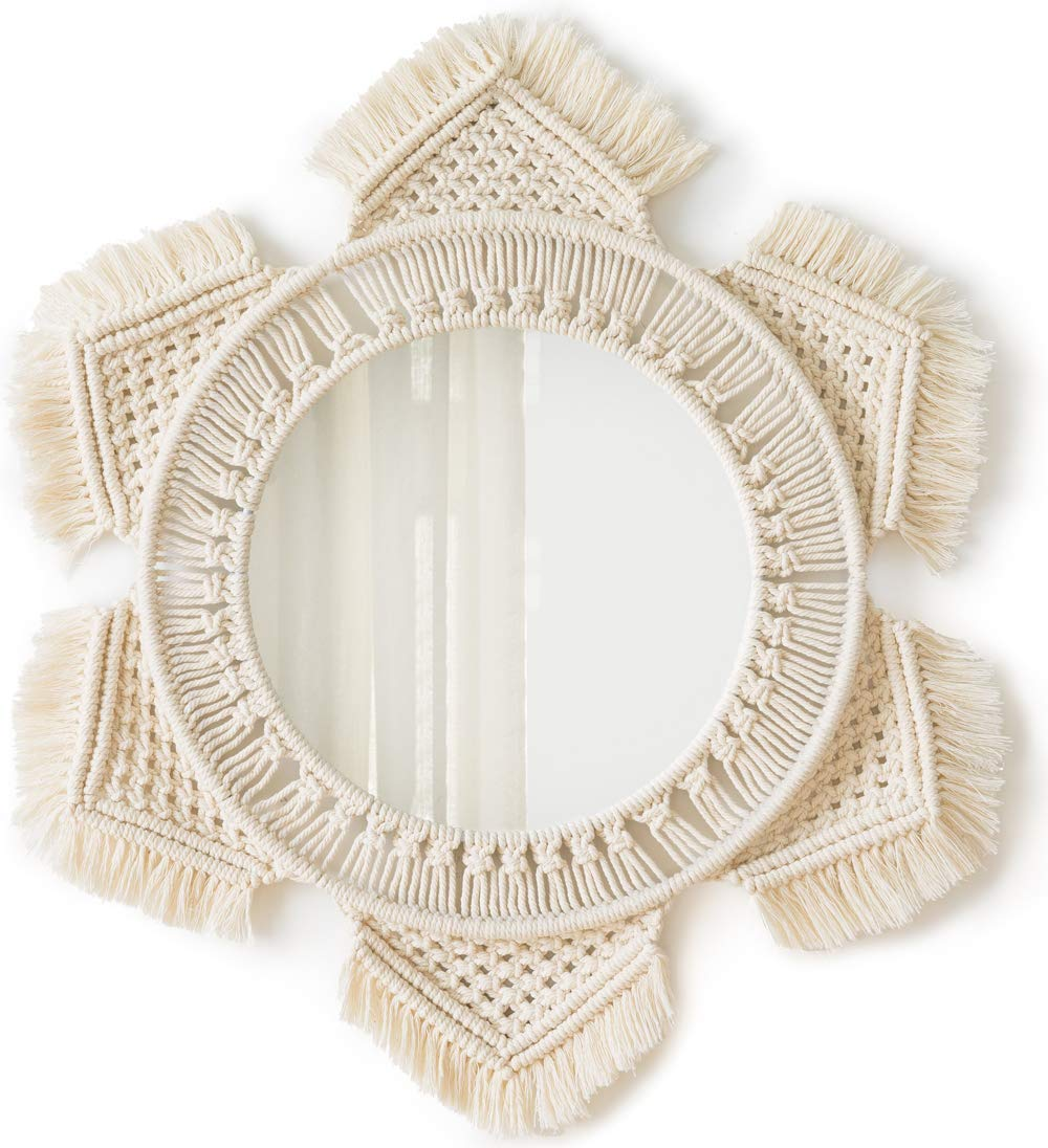 boho macrame mirror