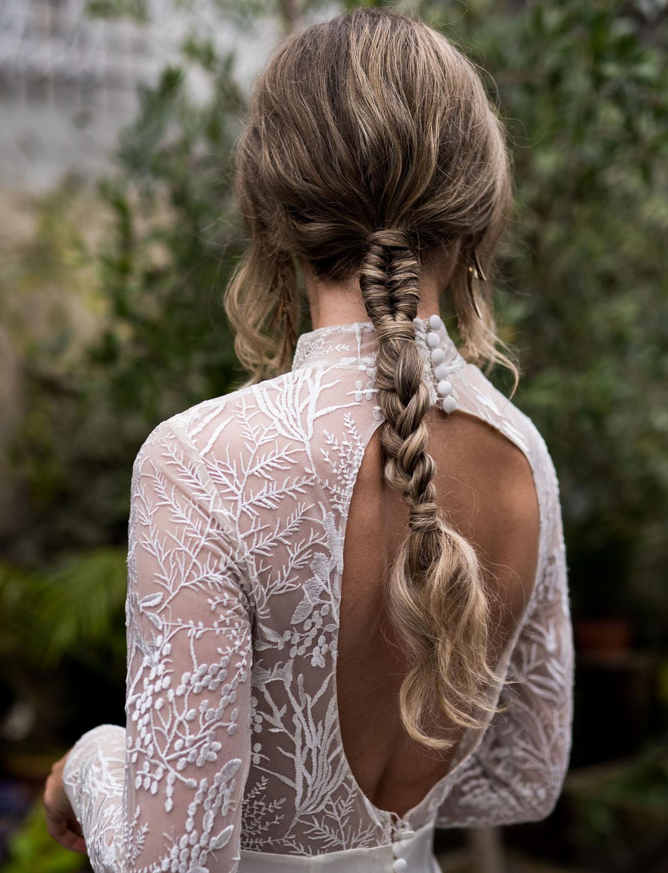 braided bridal pony