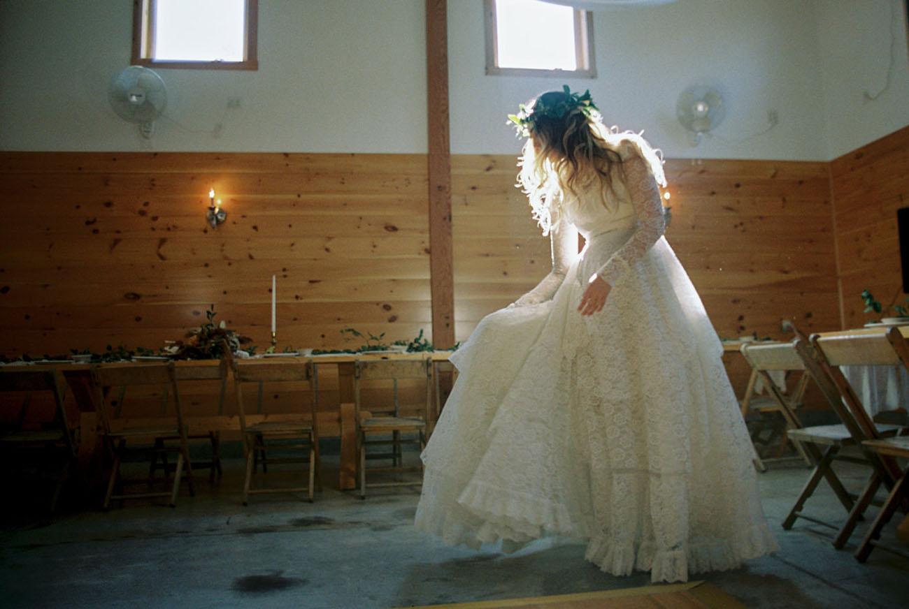 thrifted wedding dress