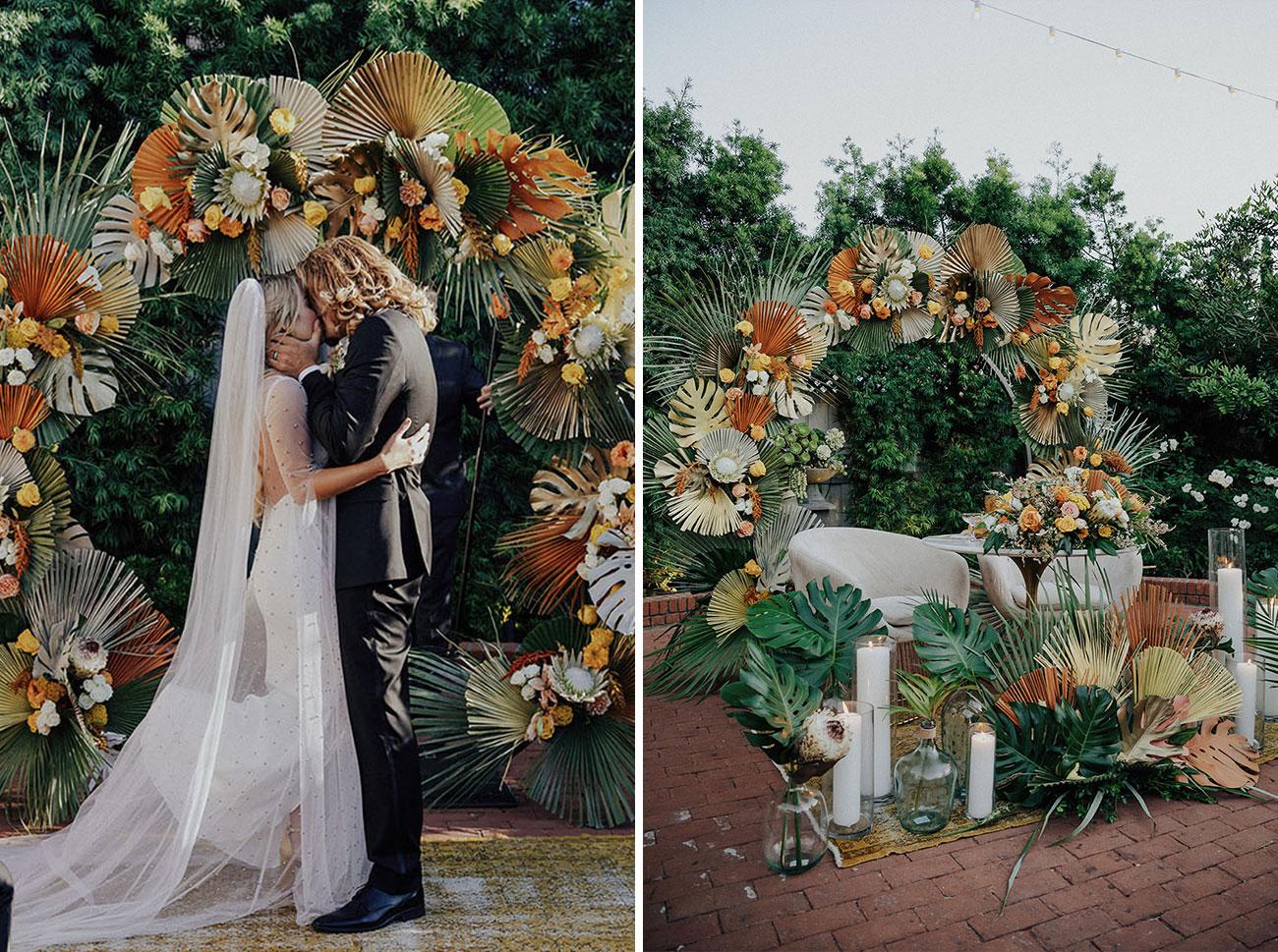 statement wedding florals