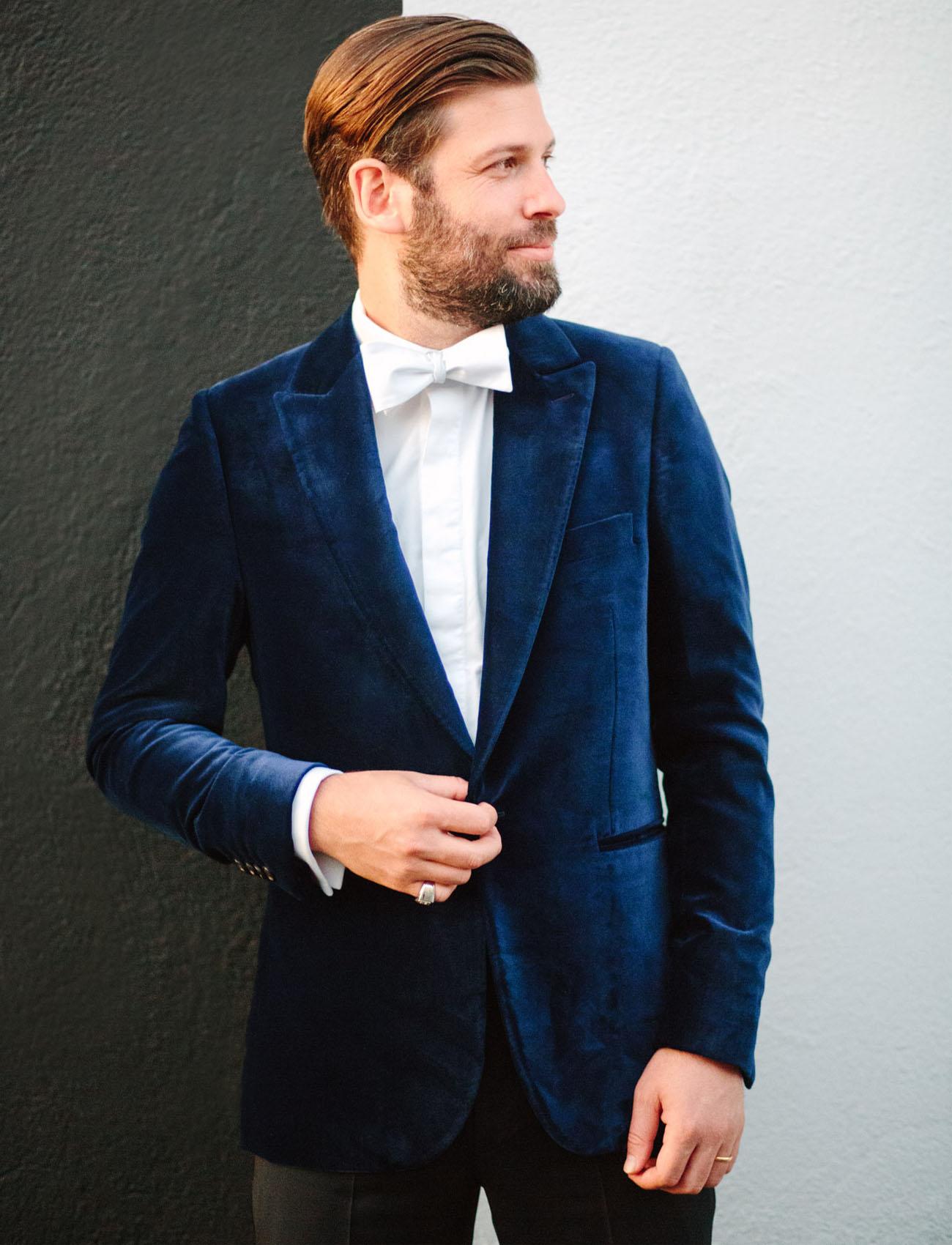blue velvet grooms jacket