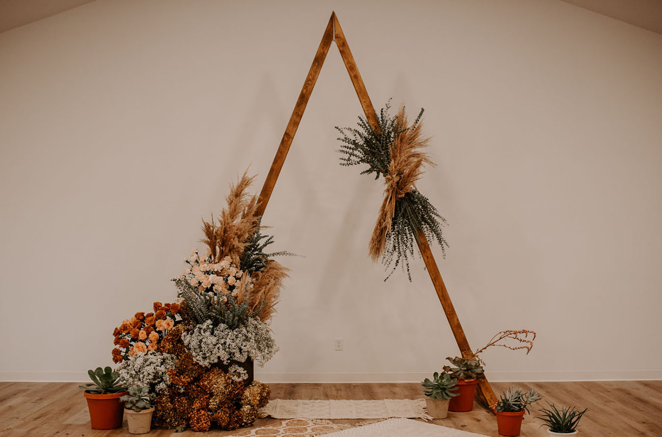 triangle boho backdrop