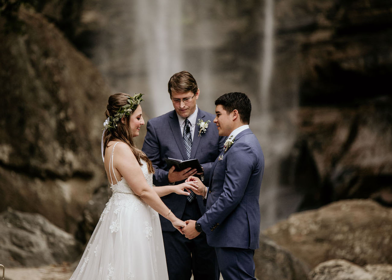 Waterfall Wedding in Georgia