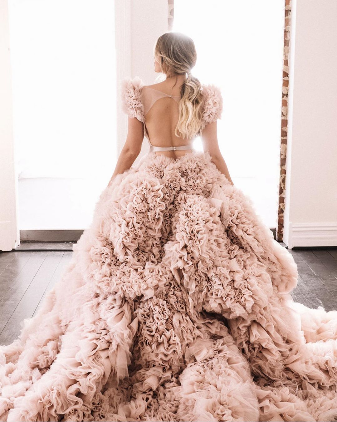 Couture Blush Wedding Dress