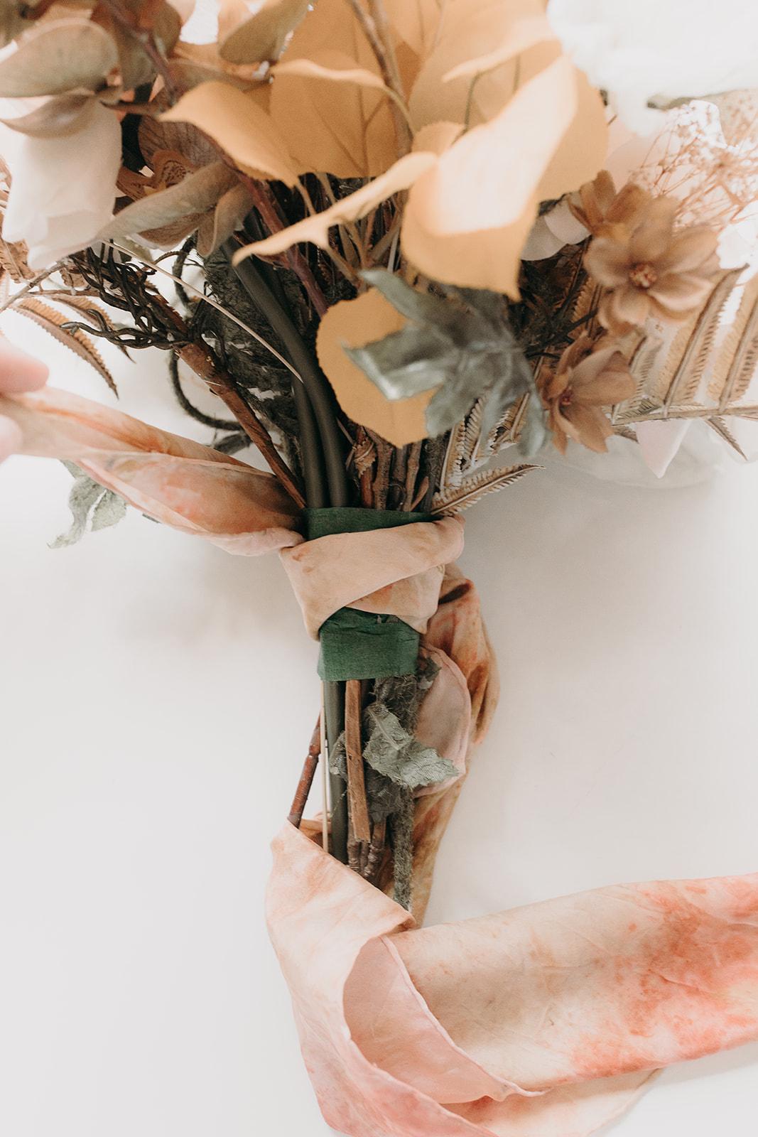 DIY bridal boho bouquet
