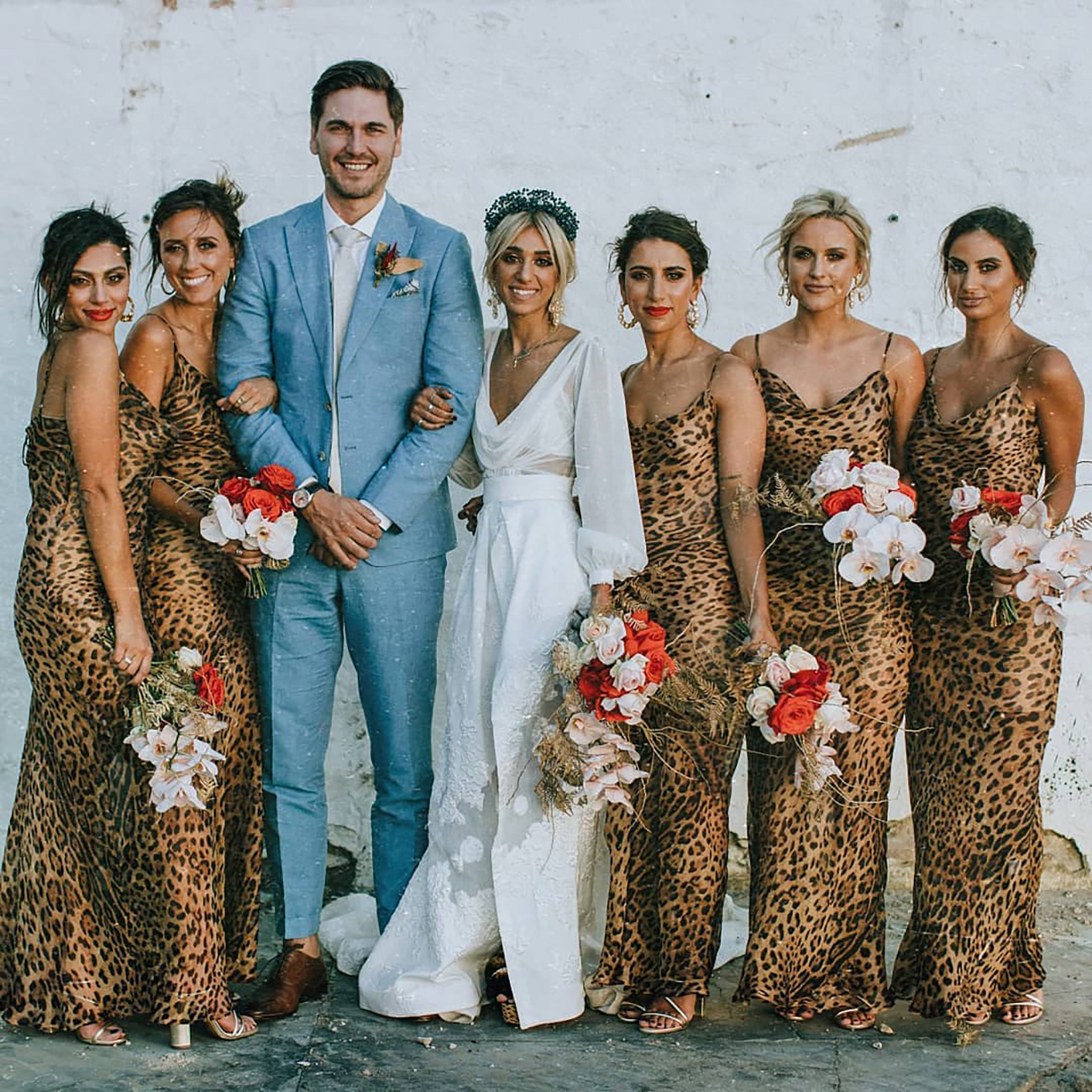 Leopard print wedding