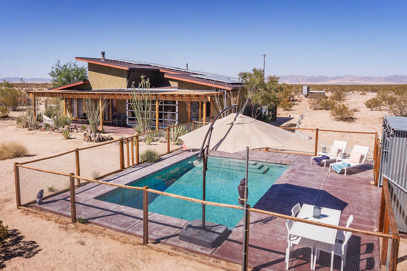 Joshua Tree Airbnb compound for weddings