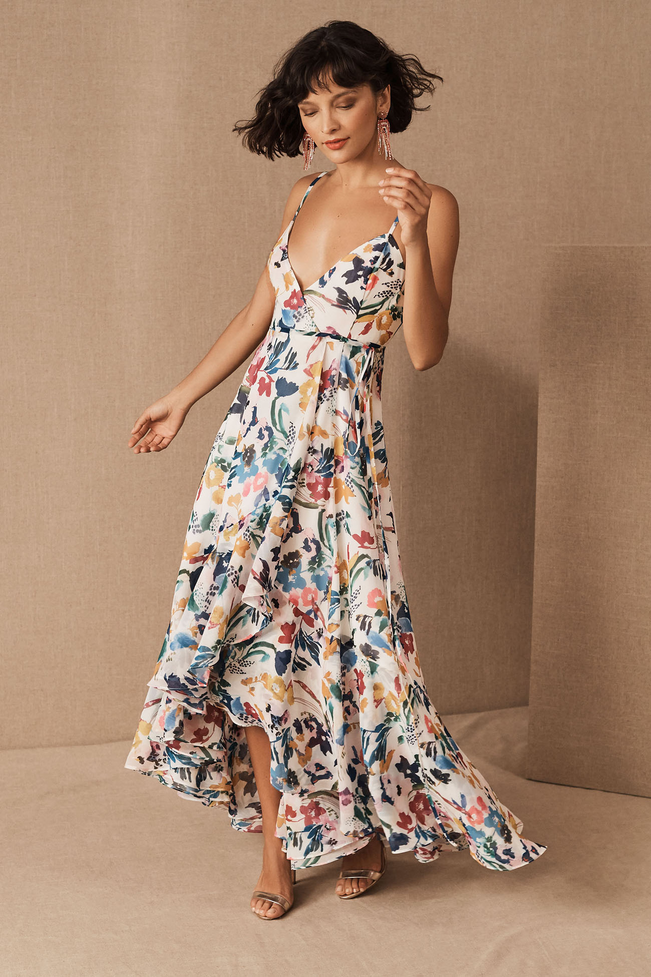 Spring Floral Bridesmaid Dress