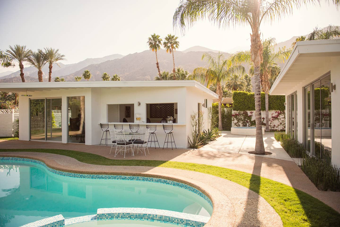 Palm Springs compound Airbnb for weddings