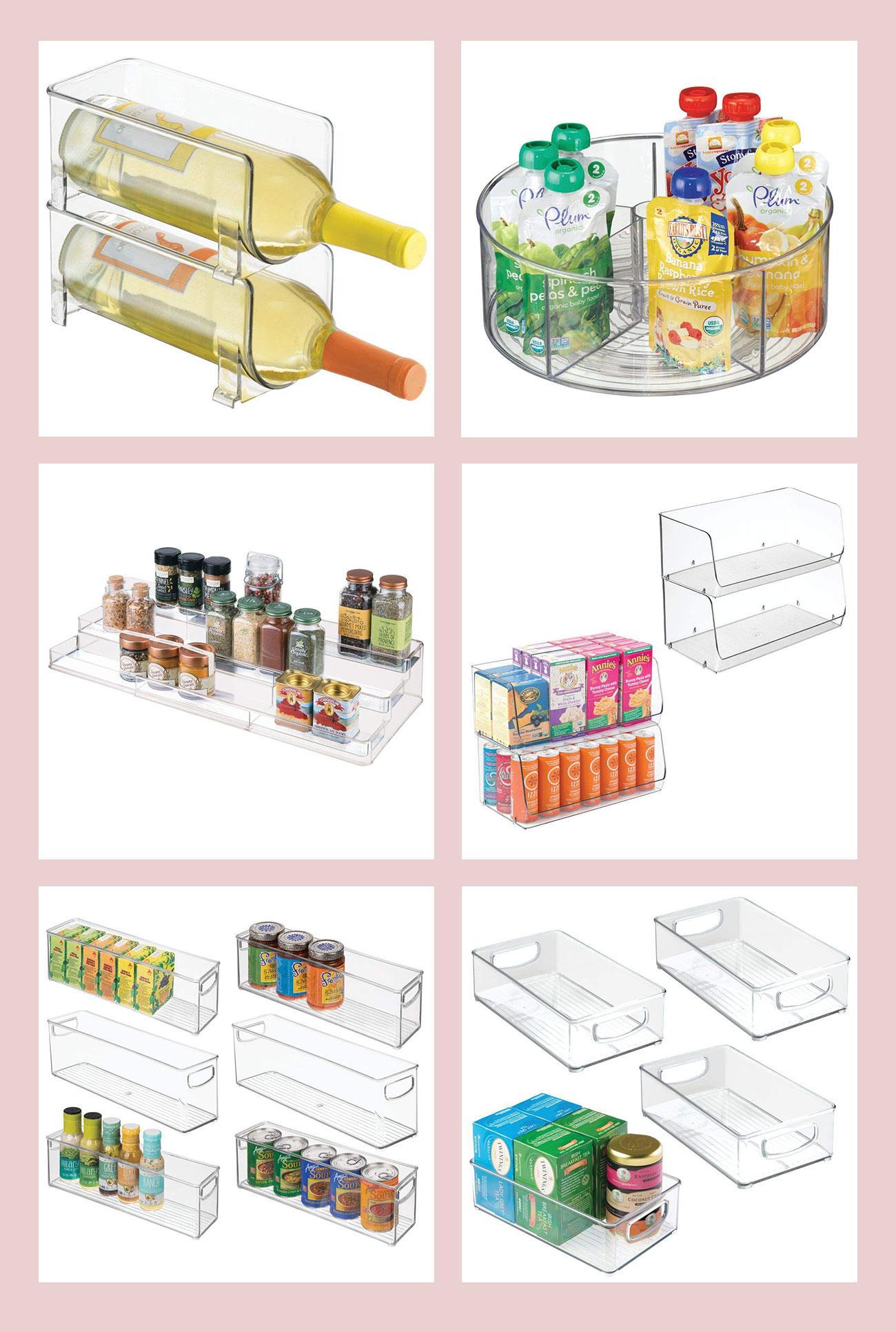 acrylic pantry organizers
