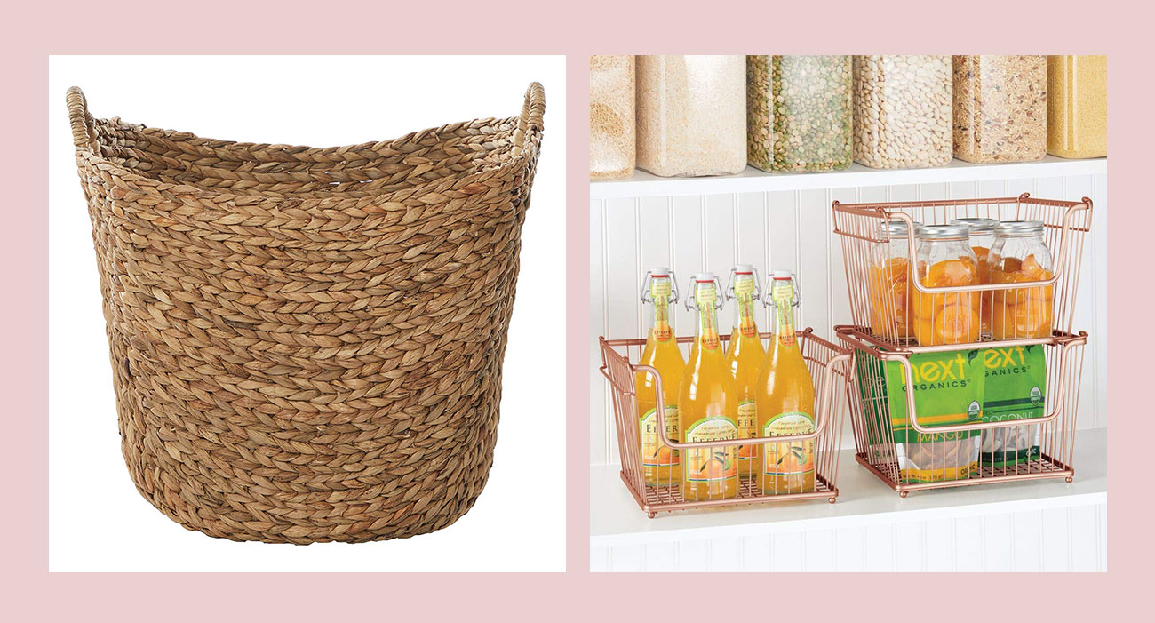 baskets and stackable baskets