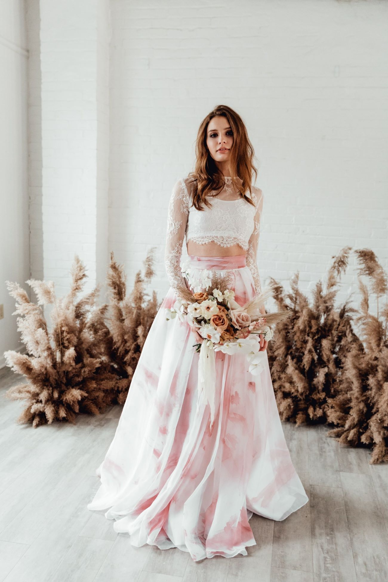 Marbled Blush Bridal Skirt