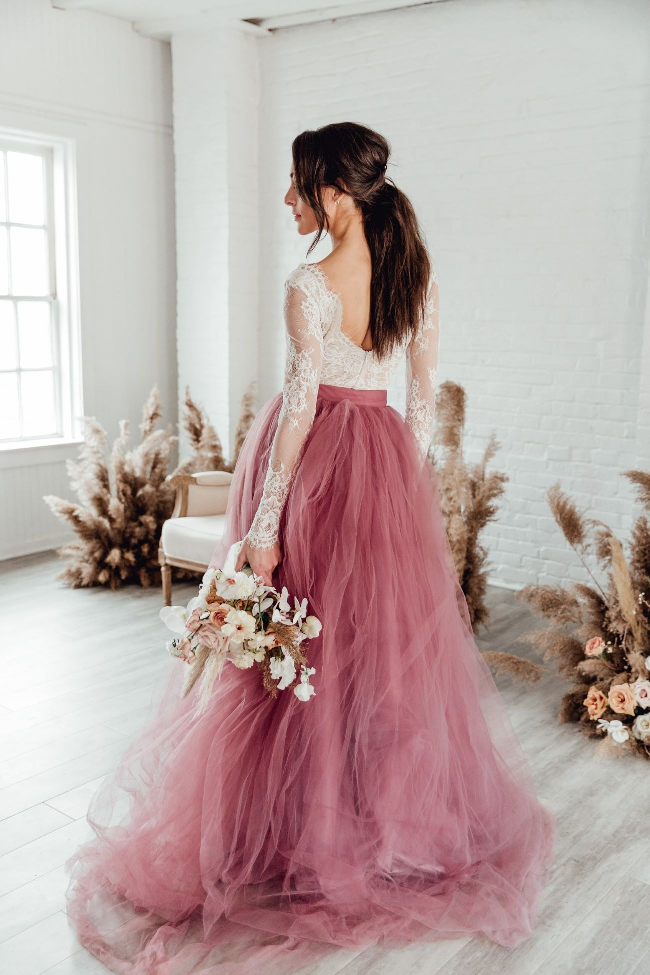 Dark Blush Wedding Dress