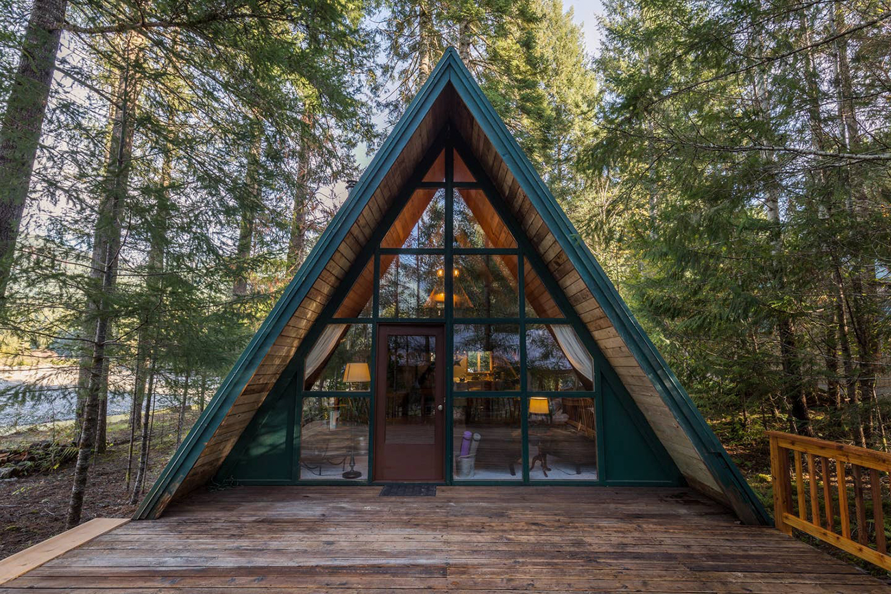 A-frame wedding venue Airbnb