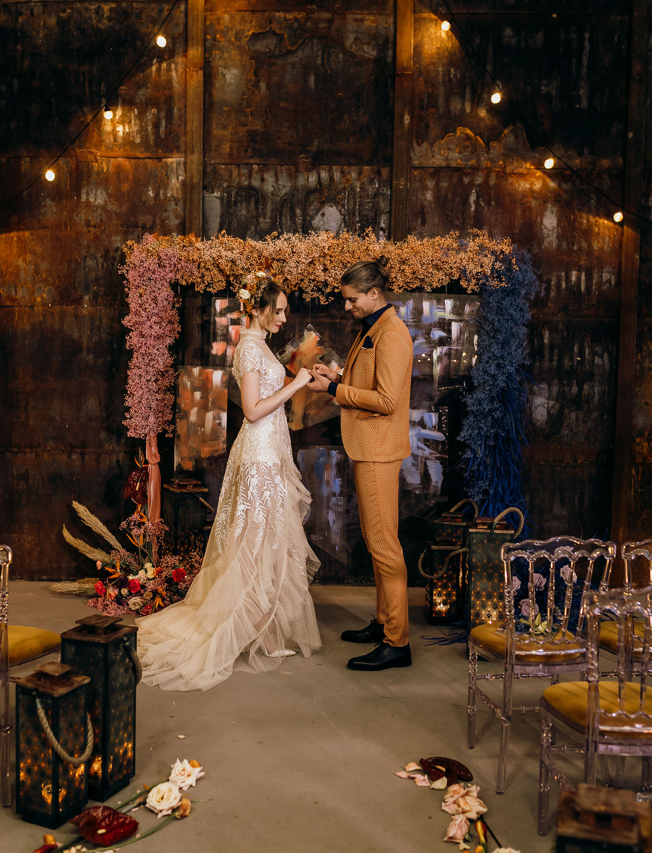 Colorful Moody Wedding Inspiration