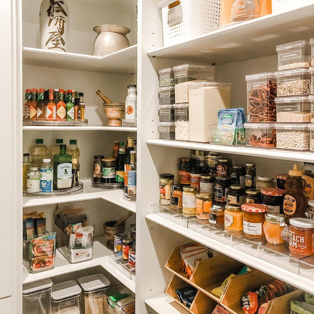 organized pantry Chrissy Teigen