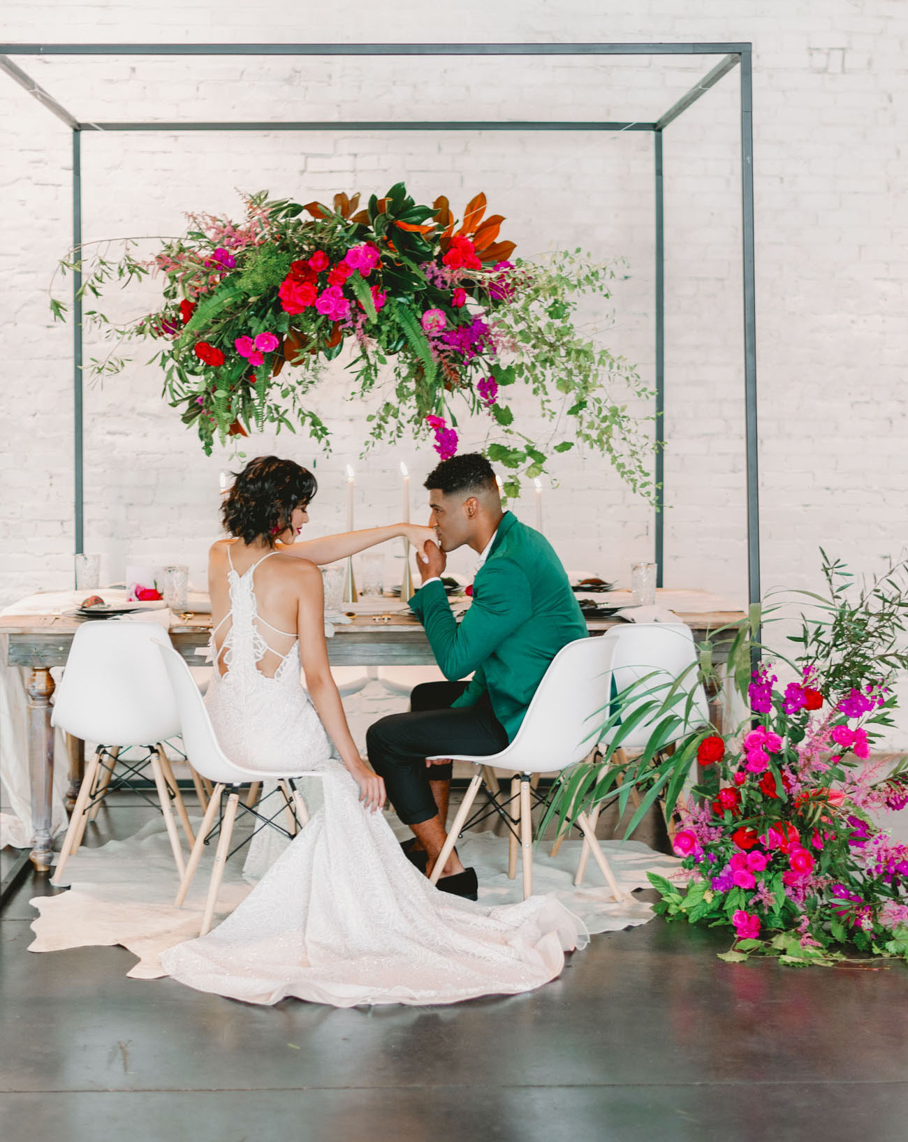 Colorful and Modern Industrial Wedding Inspiration