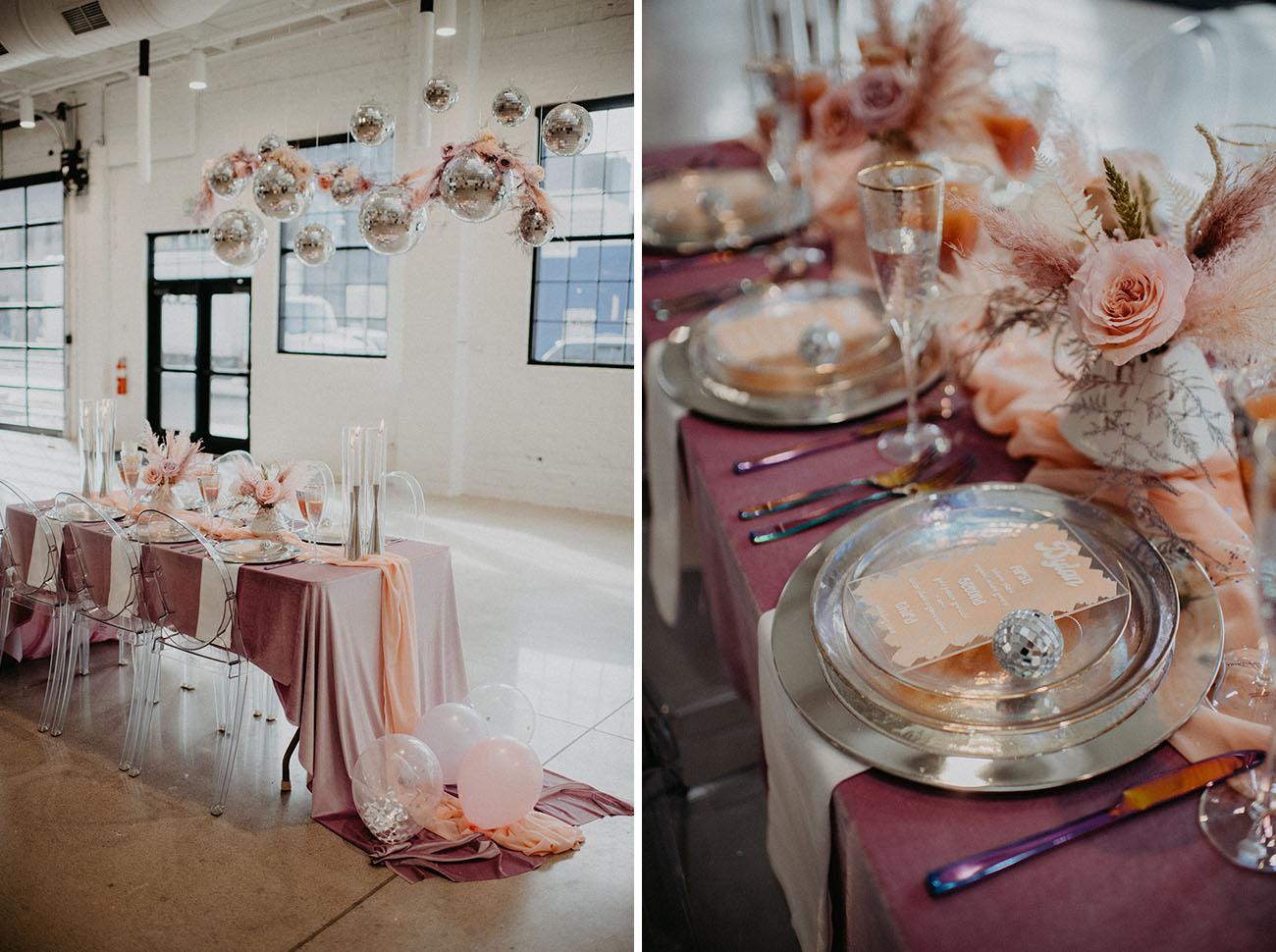 Valentine's Disco Wedding Inspiration