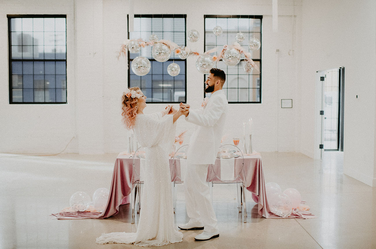 Valentine's Disco Wedding Inspiration