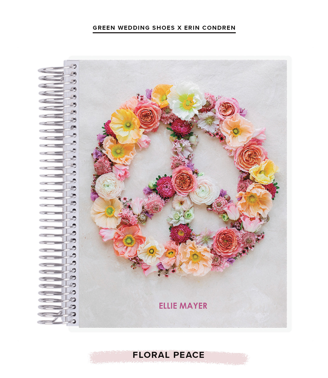 floral peace notebook