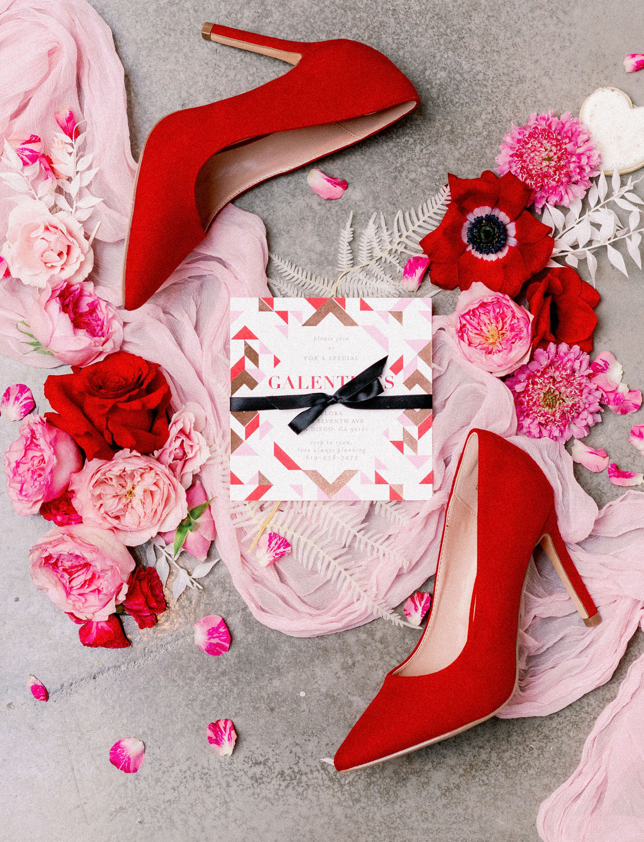 pink and red Minted invitation
