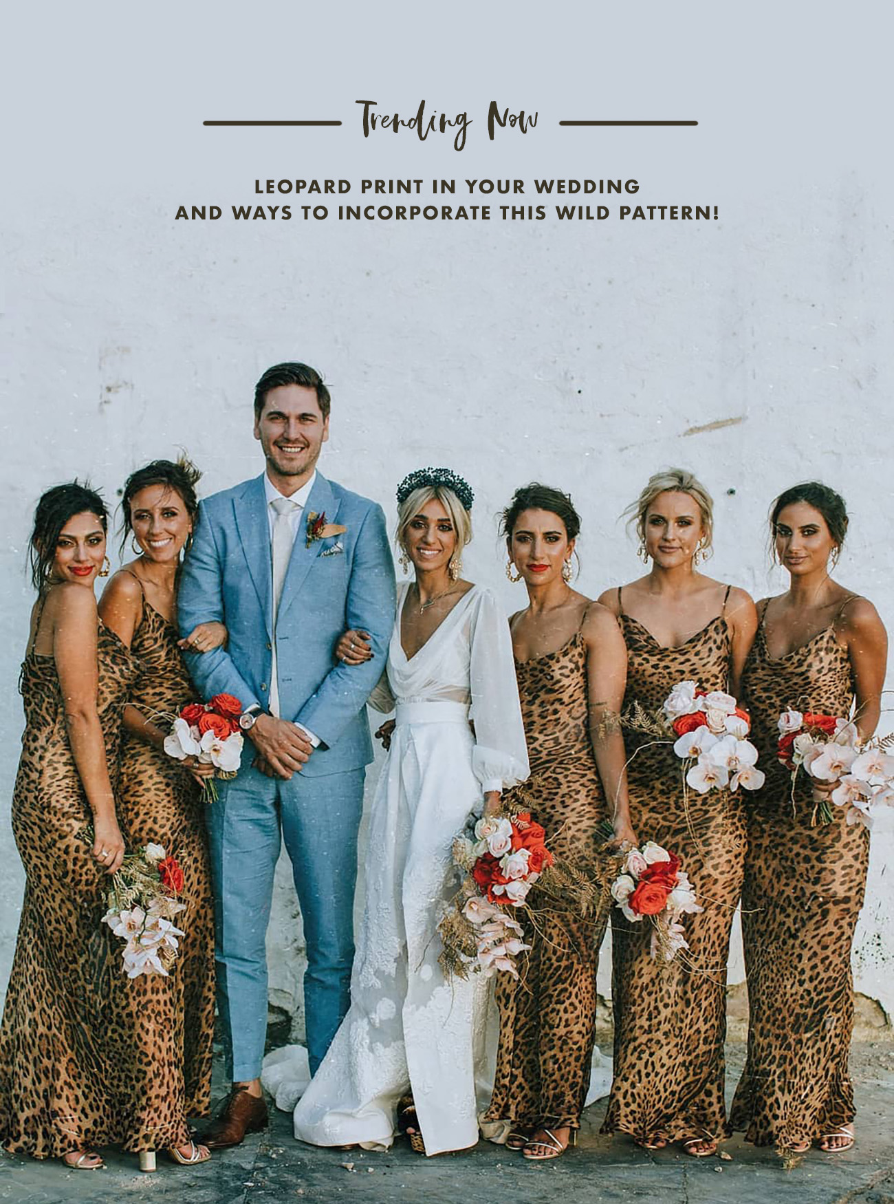 leopard print bridesmaids for your wedding