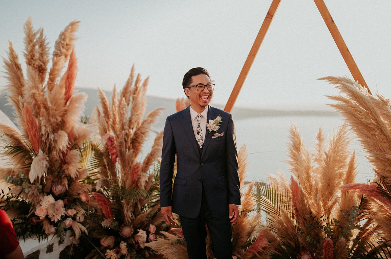 floral tie groom