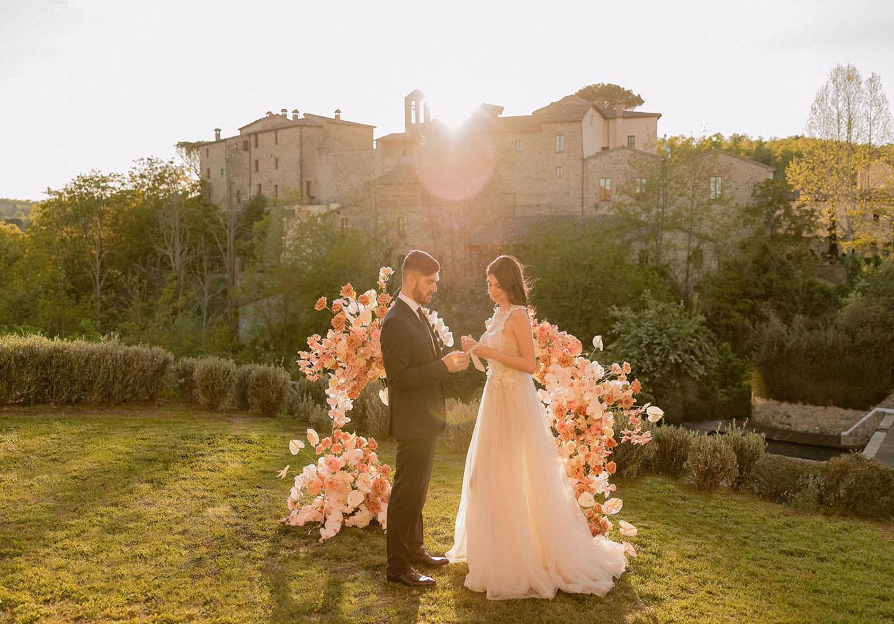 blush floral backdrop