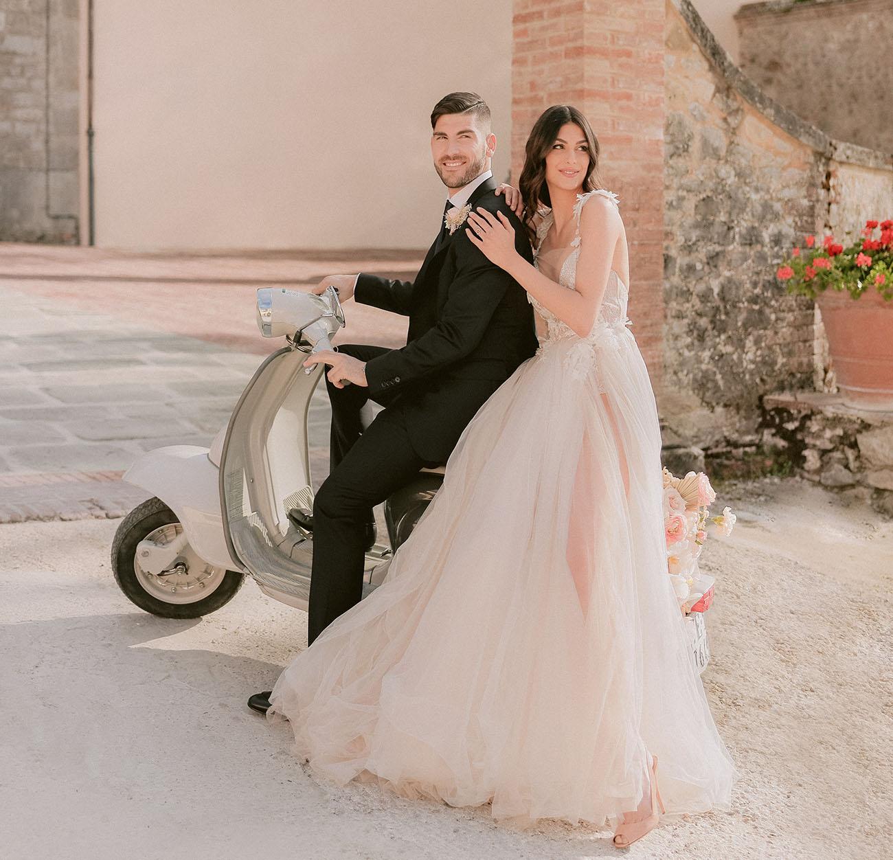Romantic Modern Tuscan Wedding Inspiration