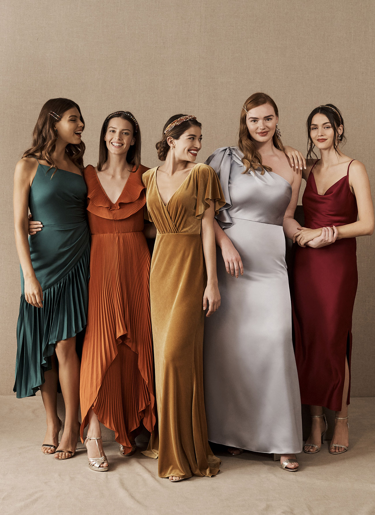 8 Unique Mix + Match Bridesmaids Lineups from BHLDN