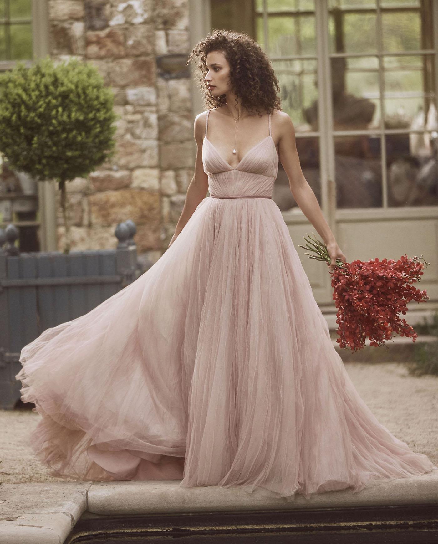 pink blush wedding dress Viv bhldn
