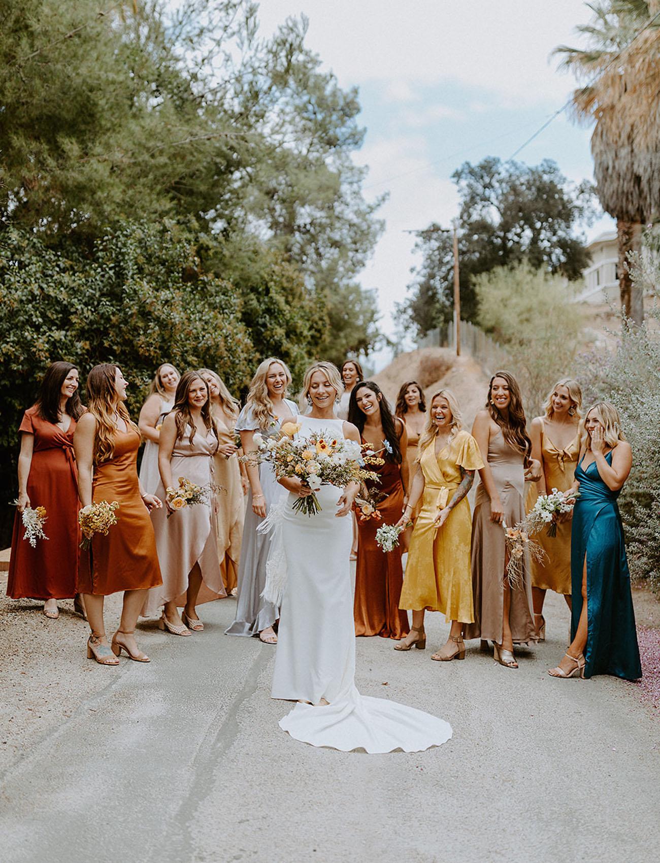 Fall bridesmaids