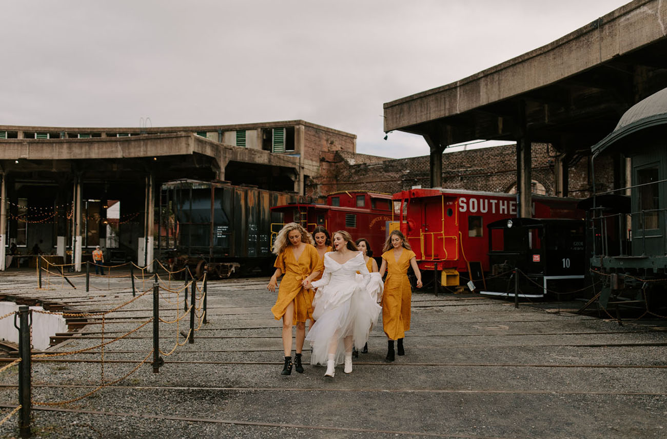 Abandoned Train Station Wedding