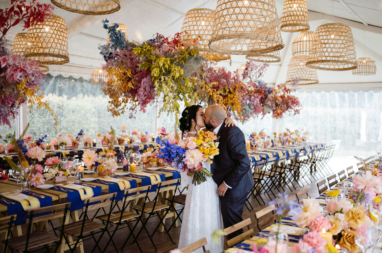 Colorful Florals Bring Moroccan Vibes to this Lake Como Wedding