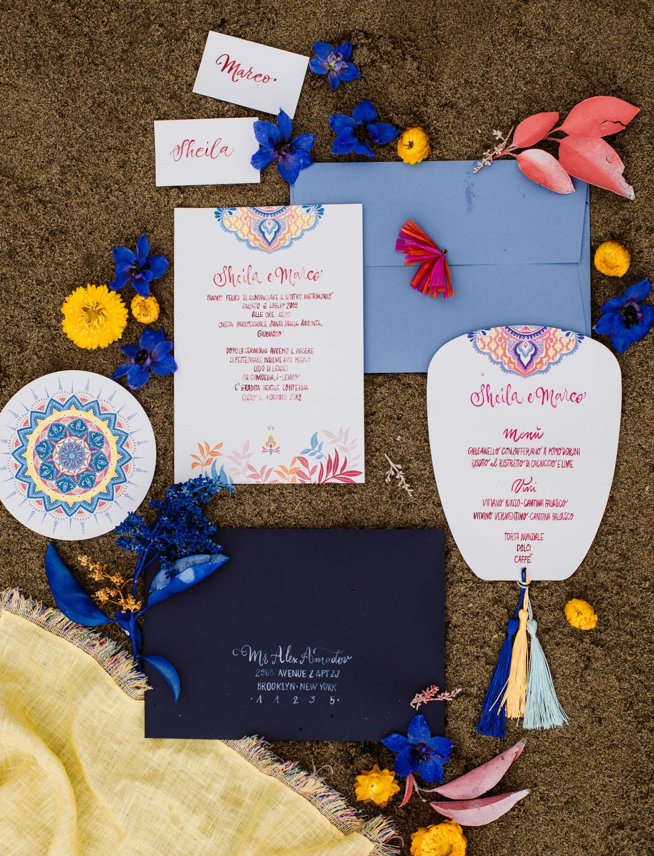 ibiza wedding invitation