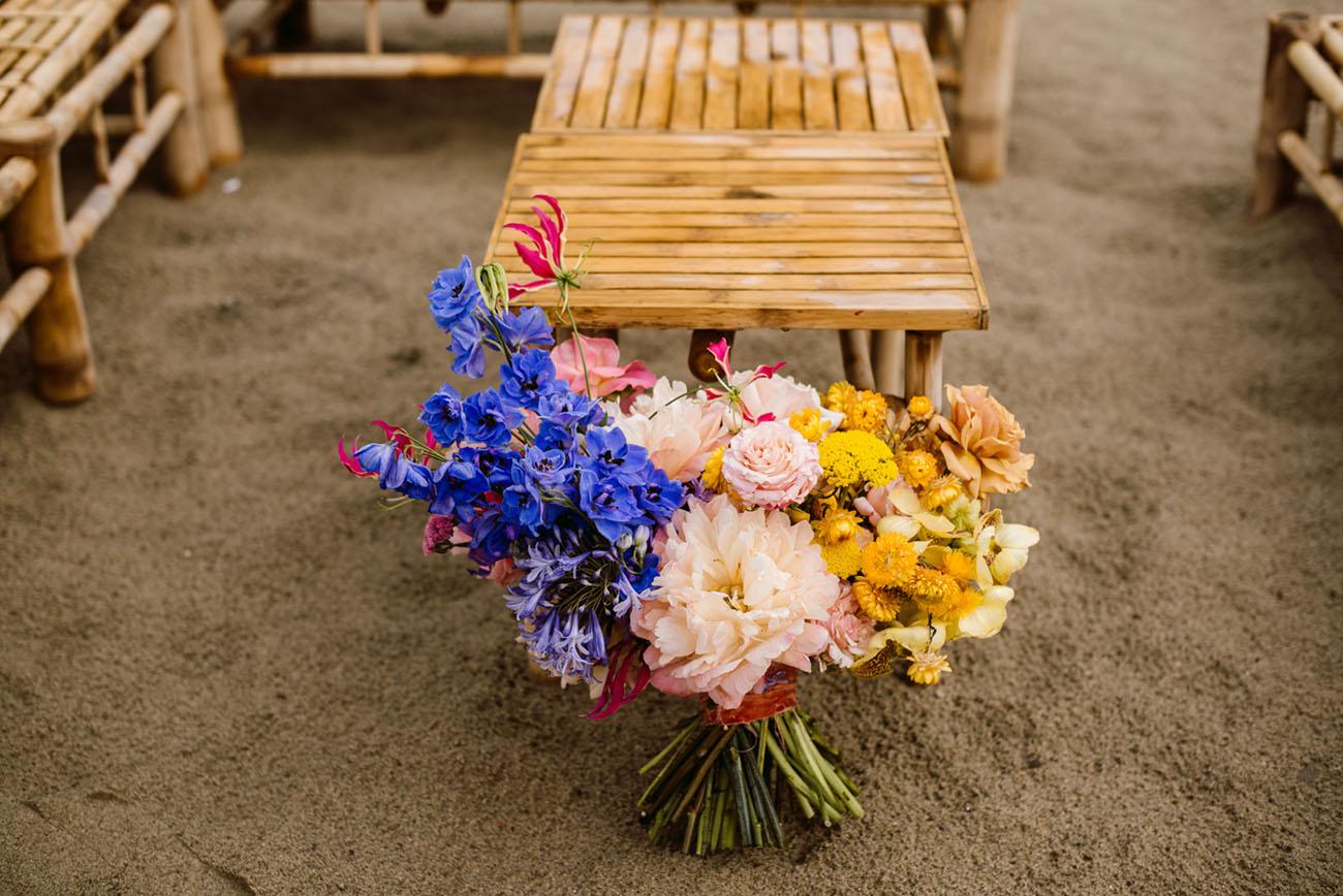 colorful delphinium bouquet