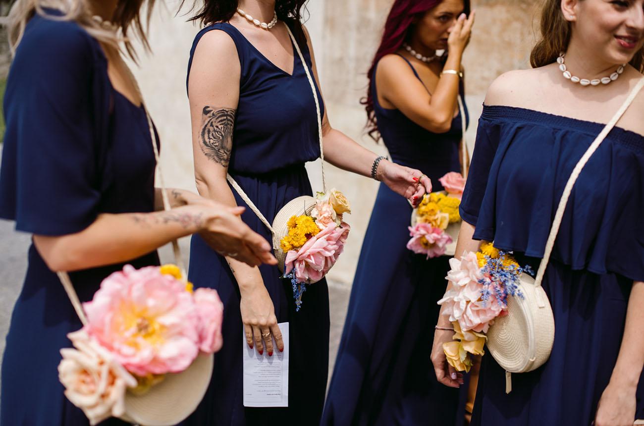 floral purses for bridesmaids