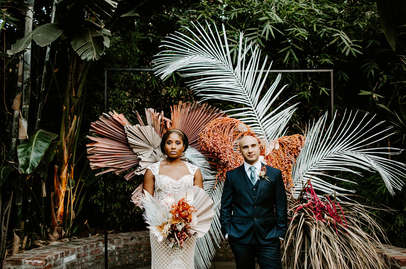 A Tropical-Inspired Brunch Wedding in Downtown Los Angeles