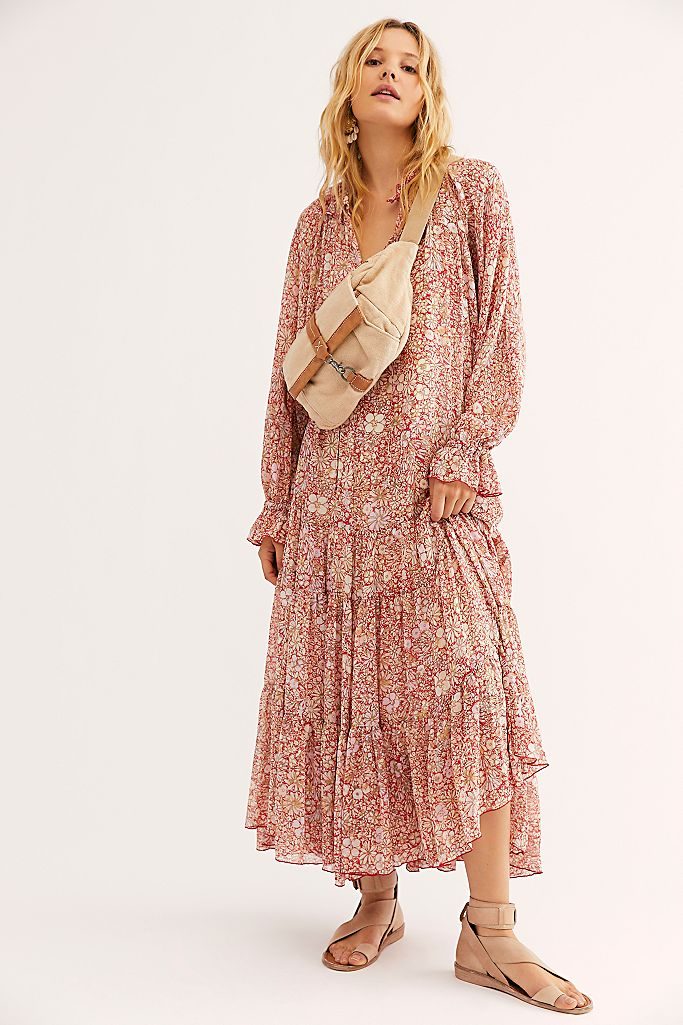 Long Sleeved Maxi Dress Free People