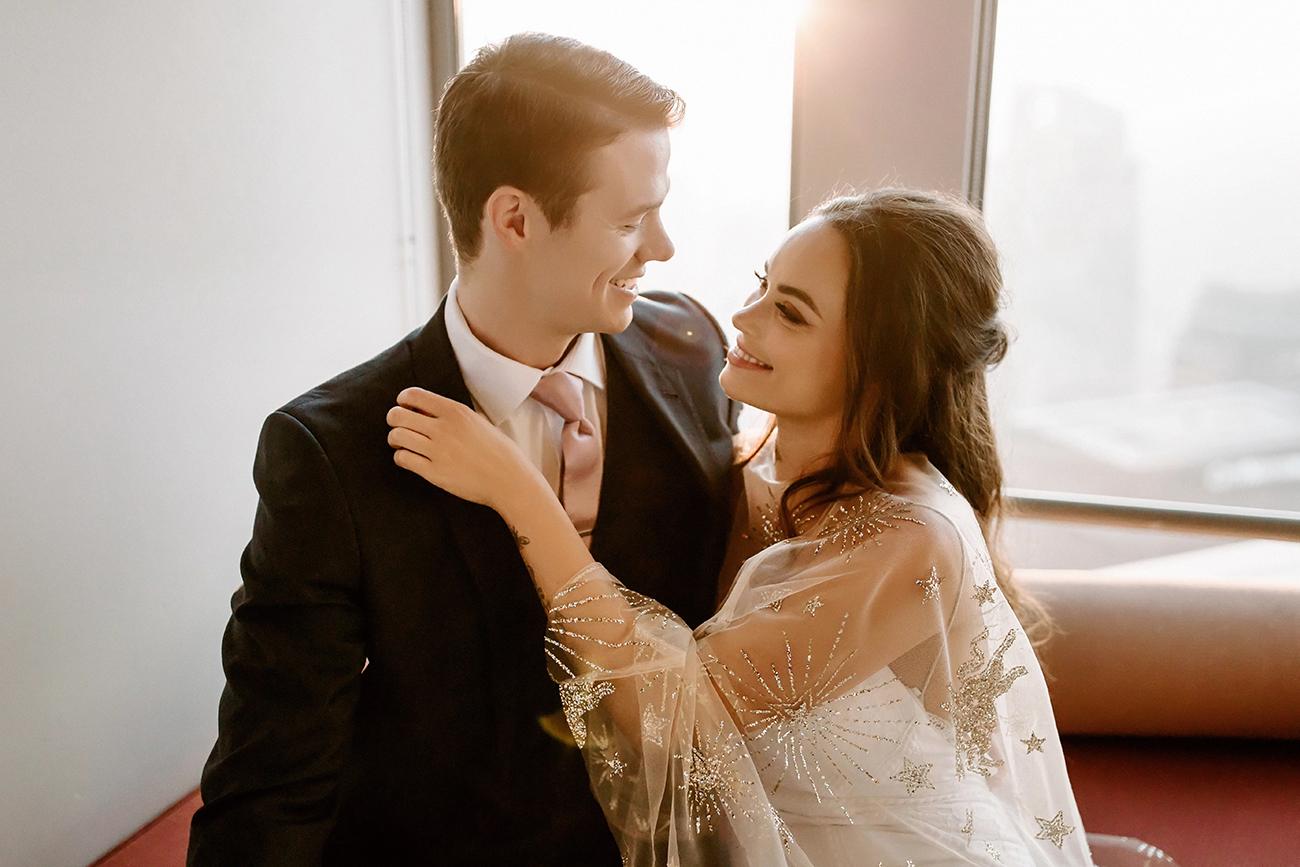 DTLA wedding couple