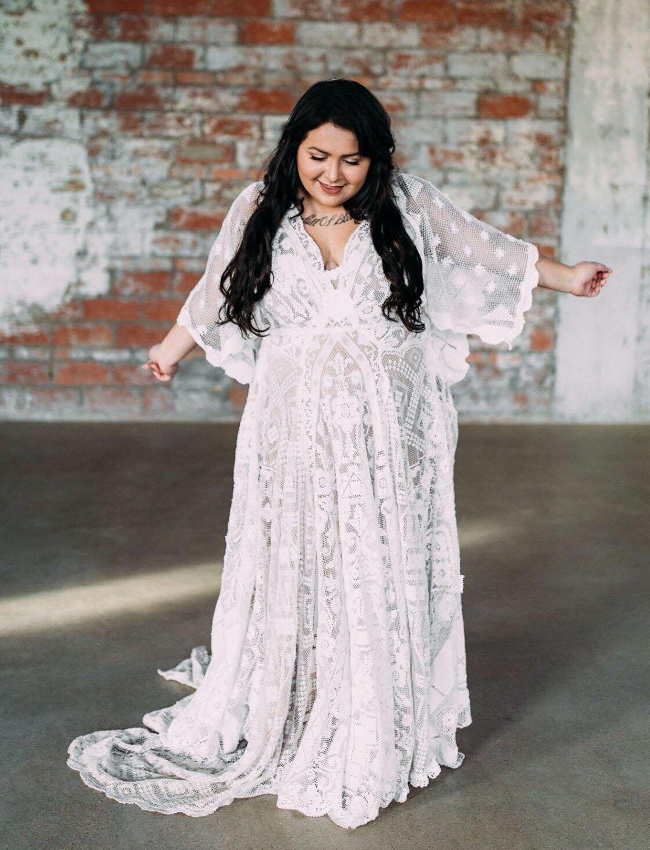 She's More than Magic Boho Wedding Dress