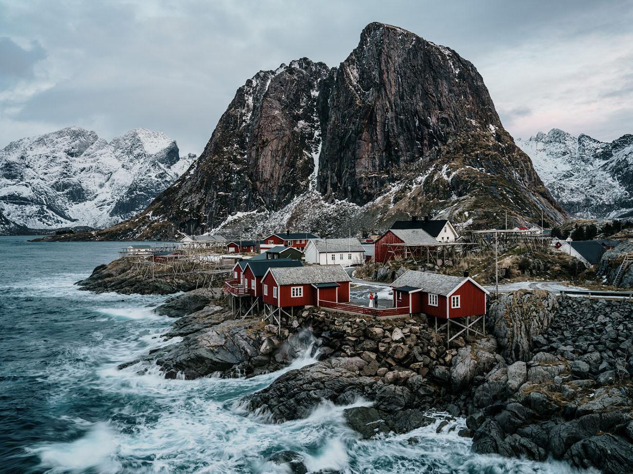 Lofoten Norway Winter Elopement