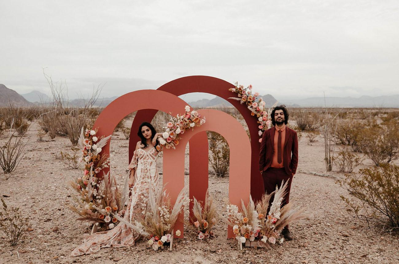 Wüsten-Terrakotta-Hochzeit