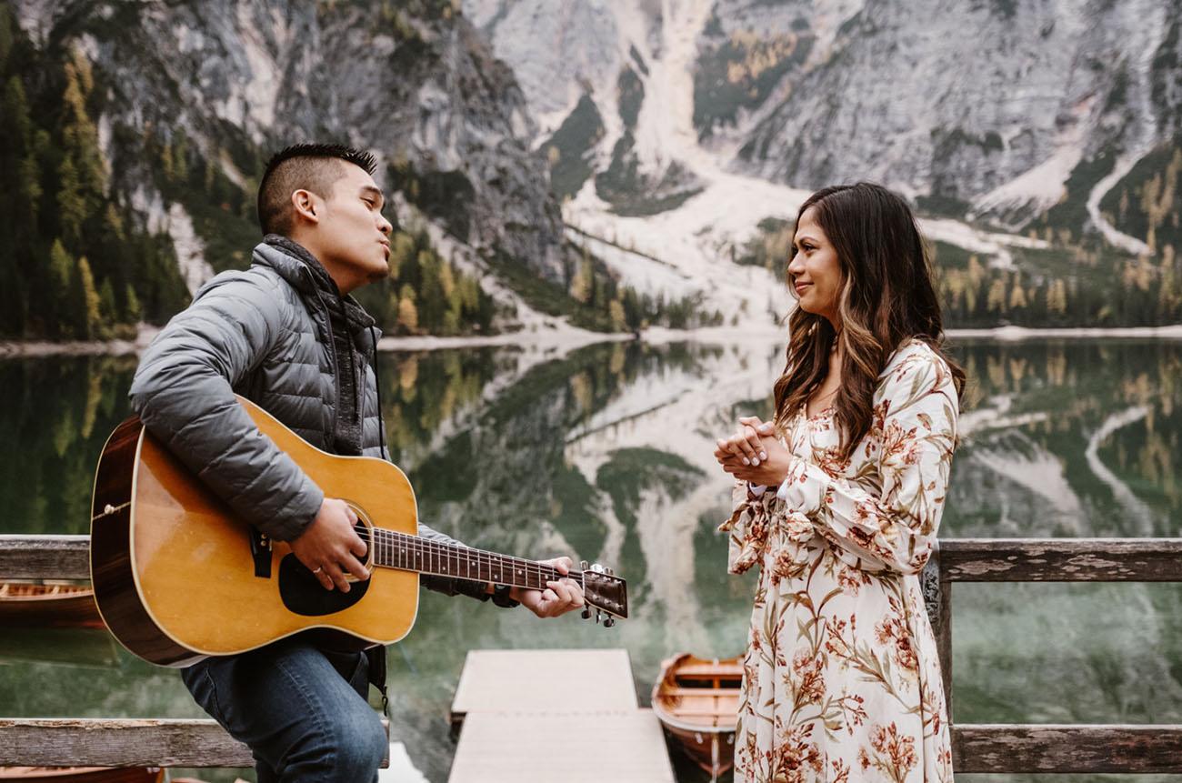 Dolomites Italy Surprise Proposal